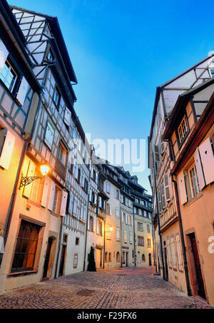 Tanner«s district The houses, mostly date back to the 17th and 18th centuries, were used by tanners - Stock Photo