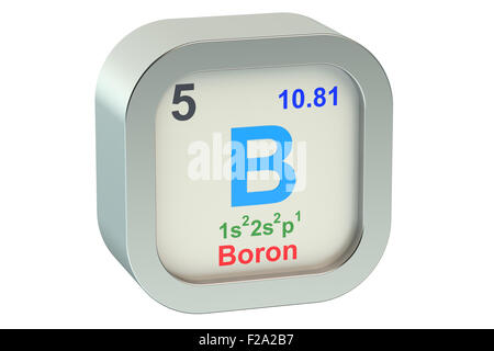 Boron Chemical Element Periodic Table Science Symbol Stock Photo