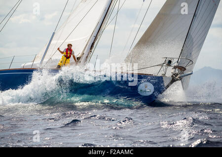 Maxi Yacht Rolex Cup 2015 sail boat regatta. - Stock Photo