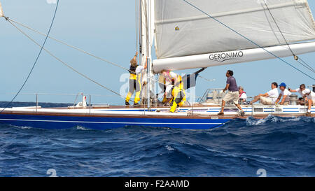 Maxi Yacht Rolex Cup 2015 sail boat regatta. - Stock Photo