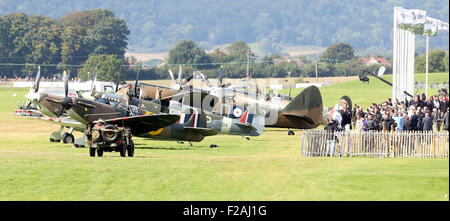 Chichester, West Sussex, UK. 15th September, 2015. GV of 75th anniversary of the Battle of Britaint capturing one - Stock Photo