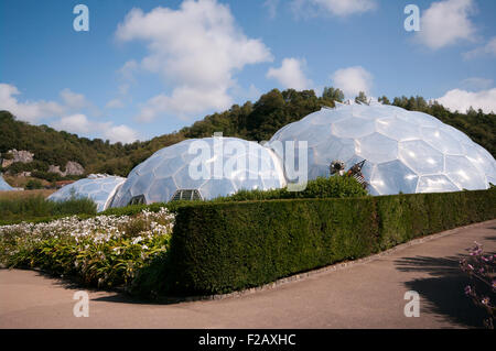 The Eden Project Cornwall England UK - Stock Photo