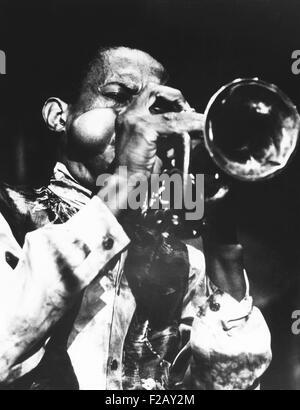 Don Cherry's cheeks seem explode at the Pori Jazz Festival, in Finland. July 28, 1968. (CSU_2015_9_906) - Stock Photo