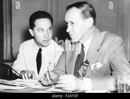 Harry Hopkins with David, the eldest of his three sons from his first marriage to Ethel Gross Hopkins. Harry Hopkins - Stock Photo