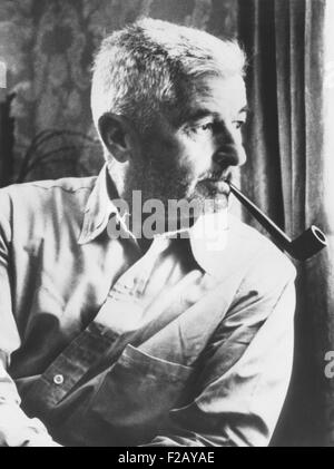 William Faulkner, won the Nobel Prize for Literature in 1949. The Nobel committee commended 'his powerful and artistically - Stock Photo