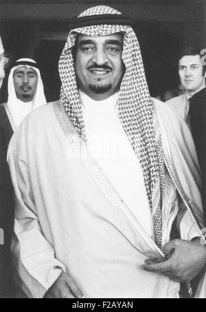 Saudi Arabia's Crown Prince Fahd, March 27, 1975. Fahd reigned as King from June 1982 until his death Aug. 2005. - Stock Photo