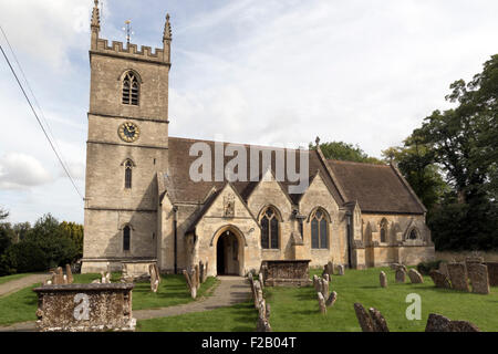 St Martin's Church in Bladon Oxfordshire the resting place of the Churchill family including Sir Winston Churchill - Stock Photo