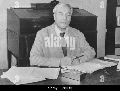 Boris Pasternak, Russian writer was awarded the 1958 Nobel Prize for Literature. When historical novel, 'Dr. Zhivago' - Stock Photo