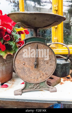 Old, rusty weighing scales - Stock Photo