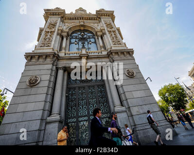 Bank of Spain in Madrid-Banco de España en Madrid - Stock Photo