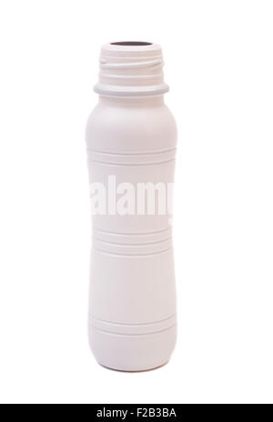 Biotic Yogurt Drink Bottle Isolated On White Background - Stock Photo