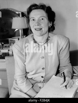 Jessamyn West, American novelist who drew from the tales she heard in her Quaker family. Her best known book, 'The - Stock Photo