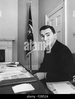 Kenneth O'Donnell, Special Assistant to President Kennedy in his White House Office. Kevin Costner portrayed O'Donnell, - Stock Photo
