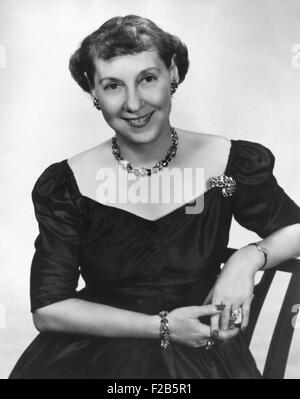 First Lady Mamie Eisenhower, 1953. - (BSLOC_2014_16_90) - Stock Photo