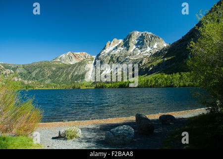 Scenic view of June Lake Loop near to Yosemite Tioga Pass, Yosemite National Park, California, U.S.A. - Stock Photo