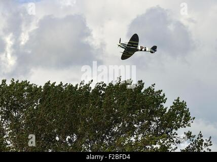 75th Anniversary Battle of Britain,  Amazing scenes in the sky above Goodwood Aerodrome today . A flypast involving - Stock Photo
