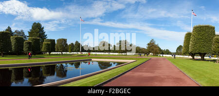 The American Military Cemetery, Omaha Beach, Normandy. - Stock Photo