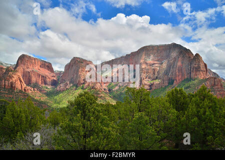 View from end of park road overlook in Kolob Canyon section of Zion National Park  in Southwestern Utah