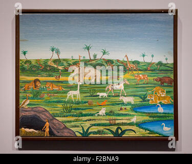 Biblical Landscape with Adam and Eve by Victor Joseph Gatto - USA - Stock Photo