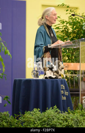 Rosemont, Pennsylvania, USA. 15th Sep, 2015. Dr. Jane Goodall, DBE, one of the world's most renowned conservationists, - Stock Photo