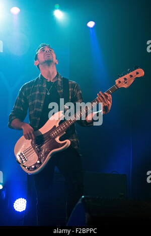 London, UK, 15th Sept 2015 : The Carnabys performs at The Isle of Wight Festival Reunion Gig Returns in AID of Variety - Stock Photo