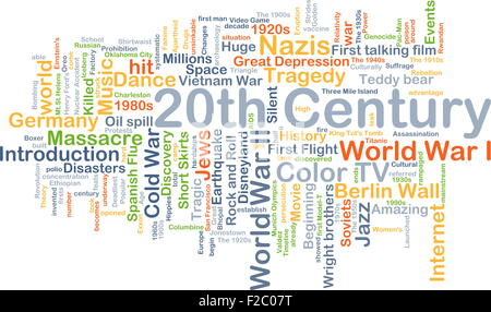 Background concept wordcloud illustration of 20th century - Stock Photo