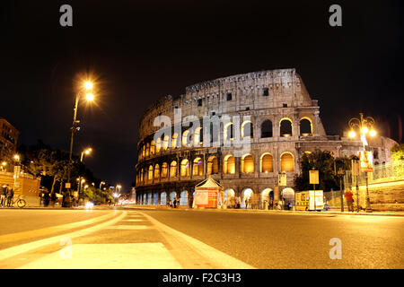 The ancient colosseum in rome, Italy - Stock Photo