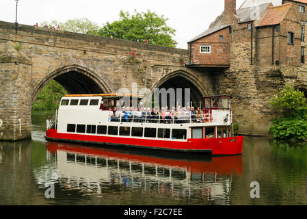 Durham City England River Wear And University Boat House Stock Photo