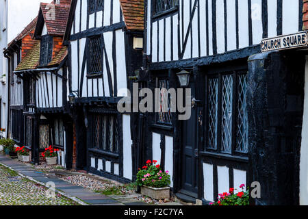 Timber Framed Houses In Church Square, Rye, Sussex, UK - Stock Photo
