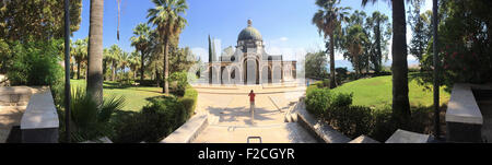 Israel: the Church of the Beatitudes, a Roman Catholic church located by the Sea of Galilee near Tabgha and Capernaum, - Stock Photo
