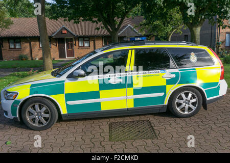Volvo V50 rapid response car of the South East Coast Ambulance Service NHS Foundation Trust - SECAmb. - Stock Photo