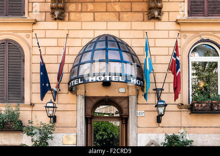Hotel Quattro Fontane, Rome, Italy - Stock Photo