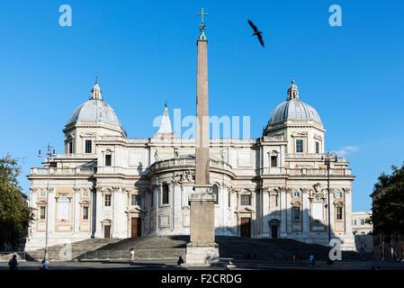 Basilica di Santa Maria Maggiore, Piazza del Esquilino, Rome, Italy - Stock Photo