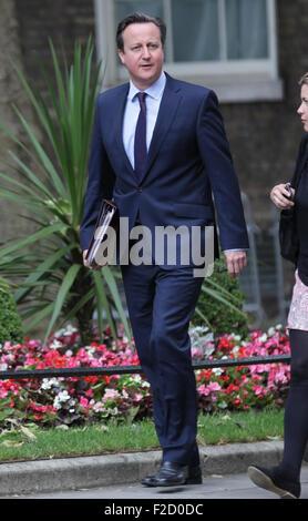 London, UK, 16th June 2015: David Cameron seen at Downing street in London - Stock Photo