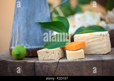 Photo of natural Homemade soaps - Stock Photo