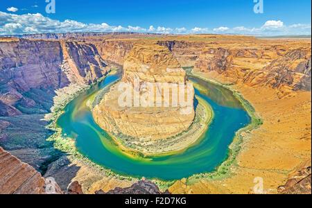 Horseshoe Bend, Colorado River, Arizona, USA. - Stock Photo