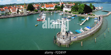 Port of Lindau island, Germany - Stock Photo