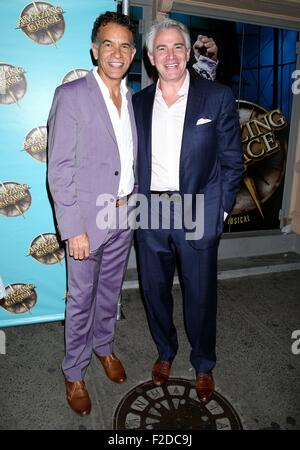 Broadway opening night for Amazing Grace at the Nederlander Theatre - Arrivals.  Featuring: Brian Stokes Mitchell, - Stock Photo