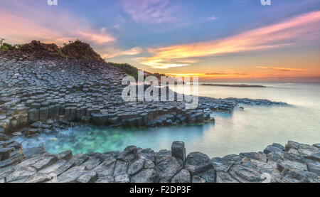 Sunrise on Ganh Da Dia, Vietnam - Stock Photo