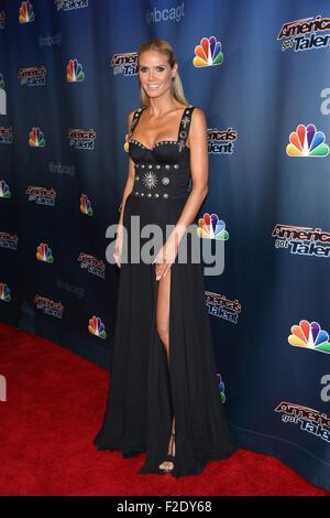 New York, USA. 16th Sep, 2015. Heidi Klum at arrivals for AMERICA'S GOT TALENT Season 10 Finale, Radio City Music - Stock Photo