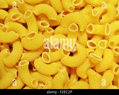 Macaroni pasta background - Stock Photo