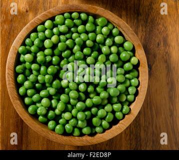 Bowl of garden pea's - Stock Photo