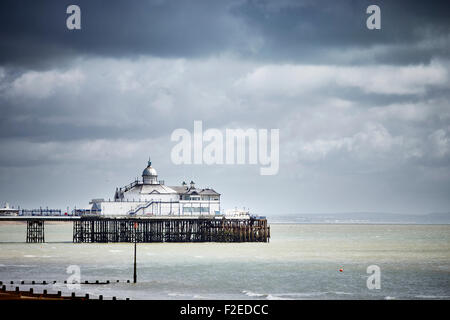 Eastbourne Pier is a seaside pleasure pier in Eastbourne, East Sussex, on the south coast of England is the town's - Stock Photo