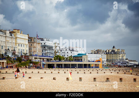 Seafront hotels at  in Eastbourne, East Sussex, on the south coast of England  UK Great Britain British United Kingdom - Stock Photo