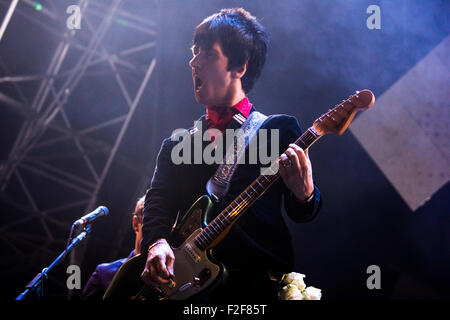 Johnny Marr playing live at Victorious Festival, Southsea, 2015. - Stock Photo