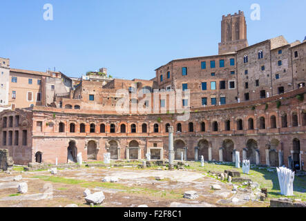 Trajan's Market forum  is a large complex of ruins on the Via dei Fori Imperiali in the city of Rome Italy Roma - Stock Photo
