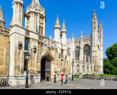 The entrance to King's College, Cambridge University, Cambridge, Cambridgeshire, England, UK - Stock Photo