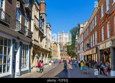 Trinity Street in the city centre, Cambridge, Cambridgeshire, England, UK - Stock Photo