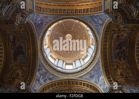 The interior of the church of Saint Sylvester the First, Rome, Italy. - Stock Photo
