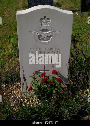Grave of Air Chief Marshal Sir Christopher Hugh 'Chris' Moran, KCB, OBE, MVO, ADC, FRAeS at Holy Cross Church, Newton - Stock Photo